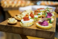 tray of canapes Lincolnshire Wedding Photographer