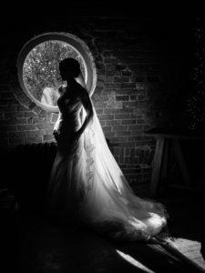 wedding photo with veil