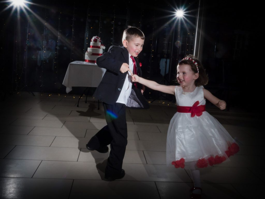dancing children at wedding